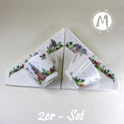 Espressotasse mit Untertasse - Triangulum